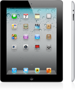 Front & side view of the iPad 2