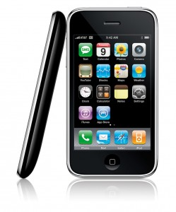 Front & Side view of Apple's iPhone 3G